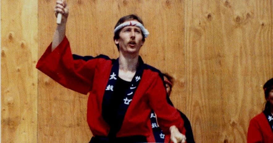 圖片:拉爾夫(Ralph)於1989年在聖何塞日本城的一個節日上表演。攝影:喬伊斯·皮爾(Joyce Pearc)