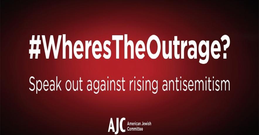 Hashtag - ¿Dónde está la indignación? Hablar contra el aumento del antisemitismo