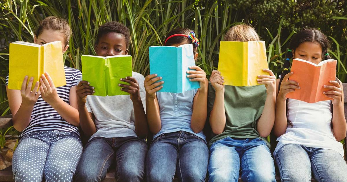 Five Kids Reading
