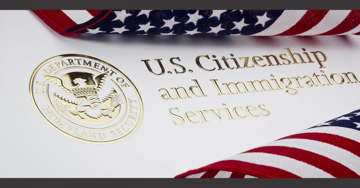 U.S. Citizenship & Immigration document with golden seal from Homeland Security.