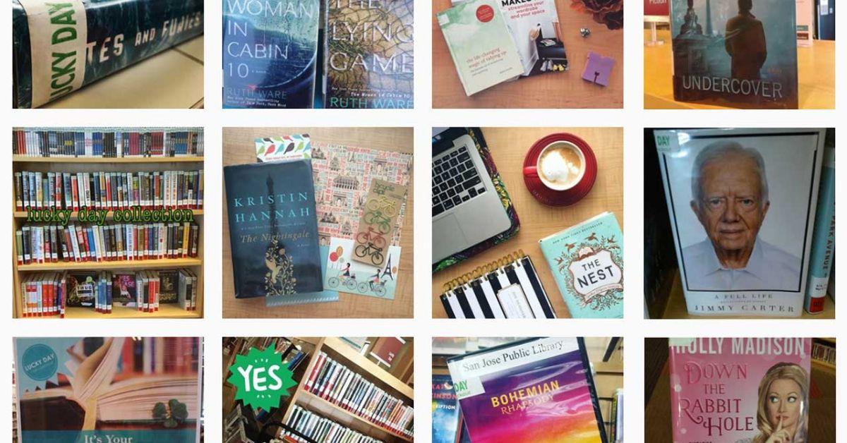 Collage de fotos de las colecciones de Lucky Day y artículos individuales, tomadas por clientes de la biblioteca.