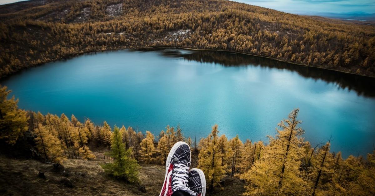 lago de viaje