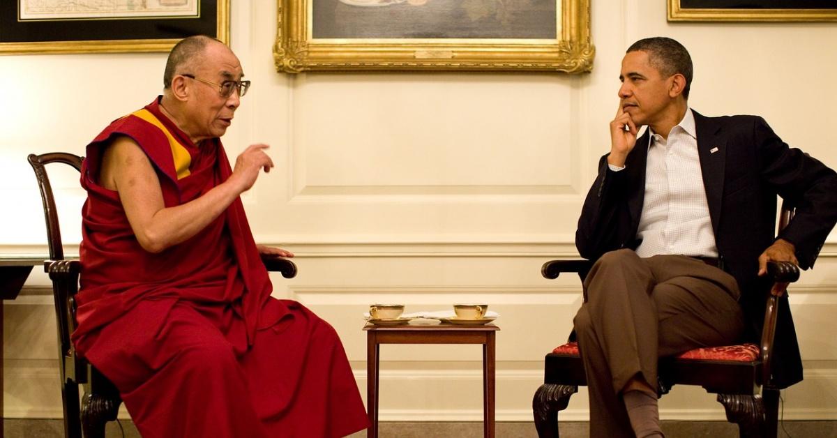 El Dalai Lama con Barack Obama