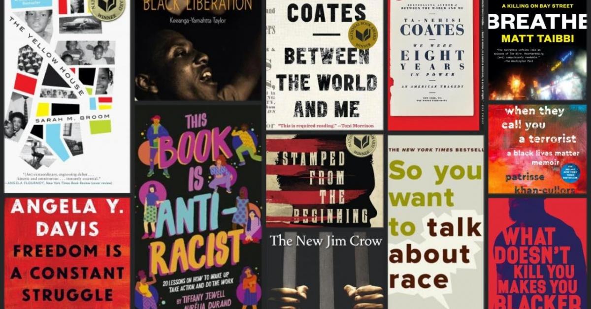 Cubiertas de libros sobre racismo