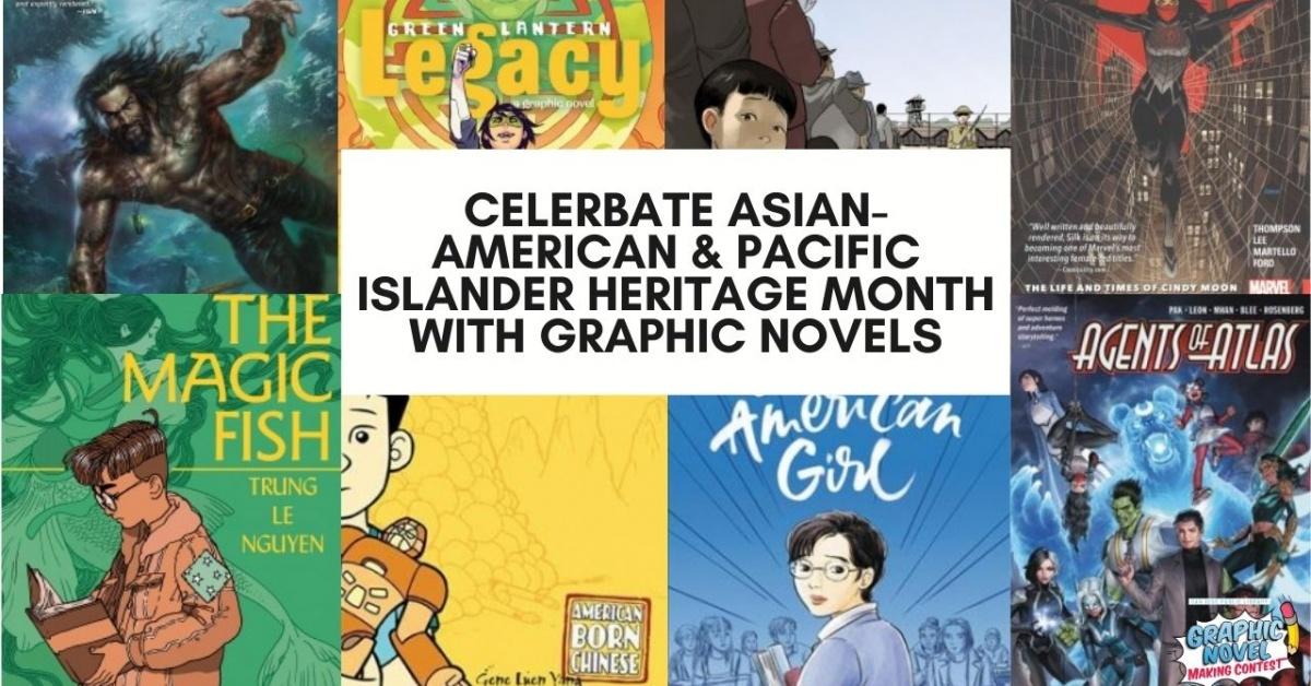 Novelas gráficas con cha de asiáticos e isleños del Pacíficoracters y autores