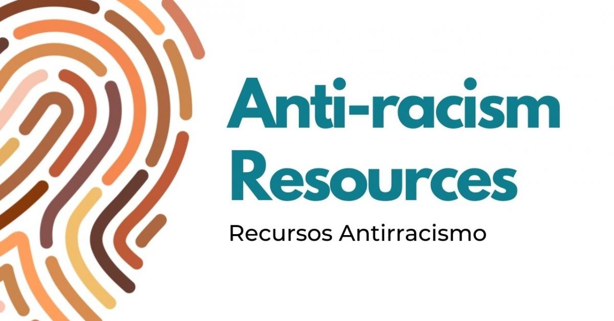 文字:反Racism 資源 / Recursos Antirrac伊斯莫。 圖像:多色指紋。