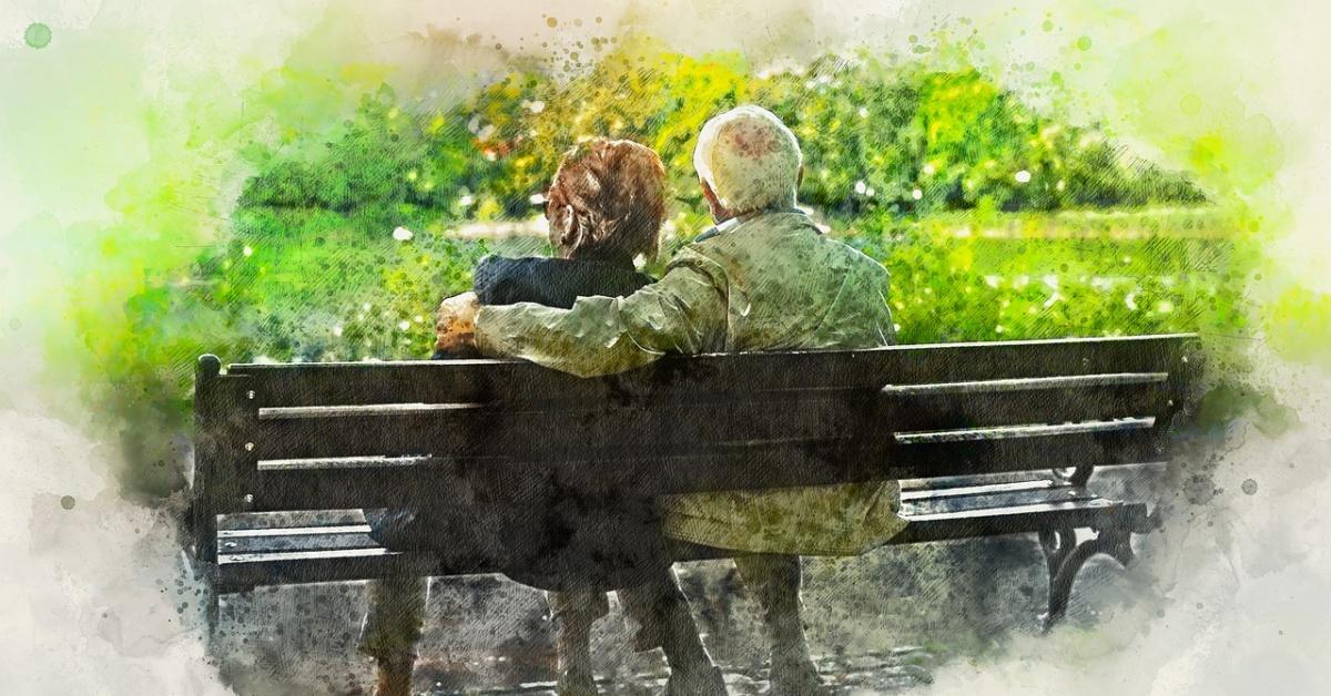 Abuelos sentados