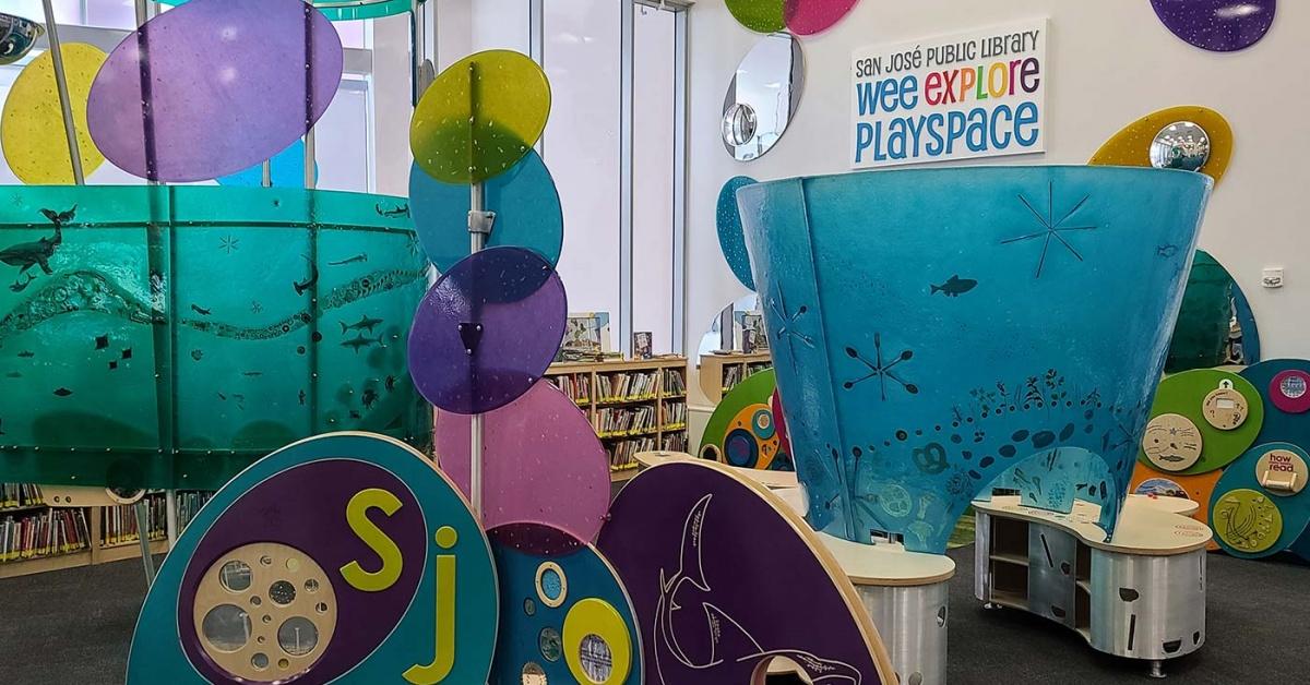 Estructuras en el Wee Explore PlaySpace.