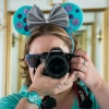 picture of anna with mouse ears and camera